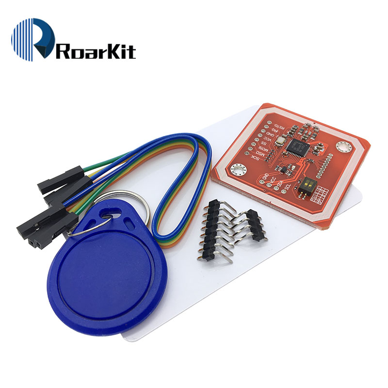 US $4 3  1Set PN532 NFC RFID Wireless Module V3 User Kits Reader Writer  Mode IC S50 Card PCB Attenna I2C IIC SPI HSU For Arduino-in Integrated