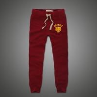 Ctton sweatpants الرجال الأحمر والرمادي والبحرية اللون يتأهل ركض