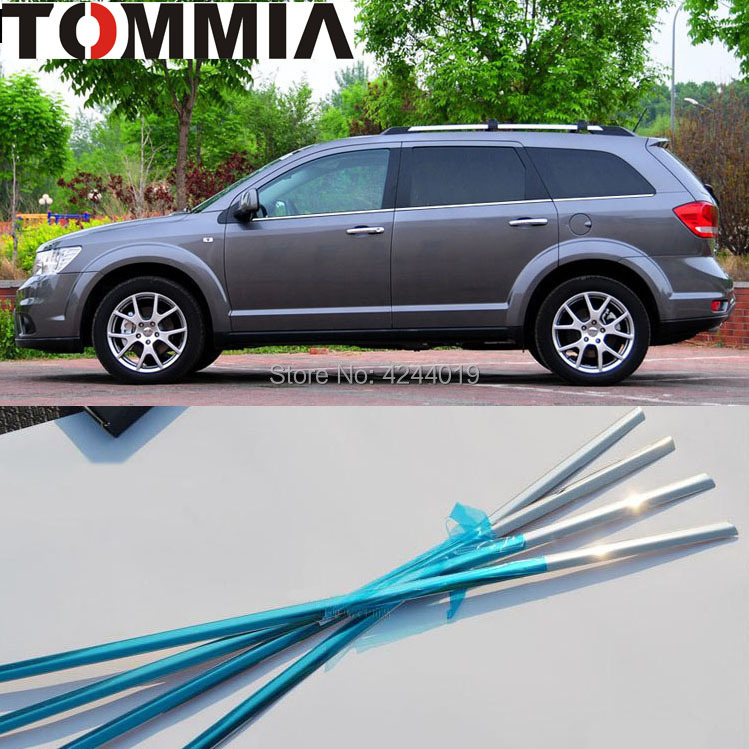 цена на TOMMIA 6pcs Stainless Steel Chrome Bottom Window Frame Sill Trim For Dodge JCUV DODGE JOURNEY Car Accessories