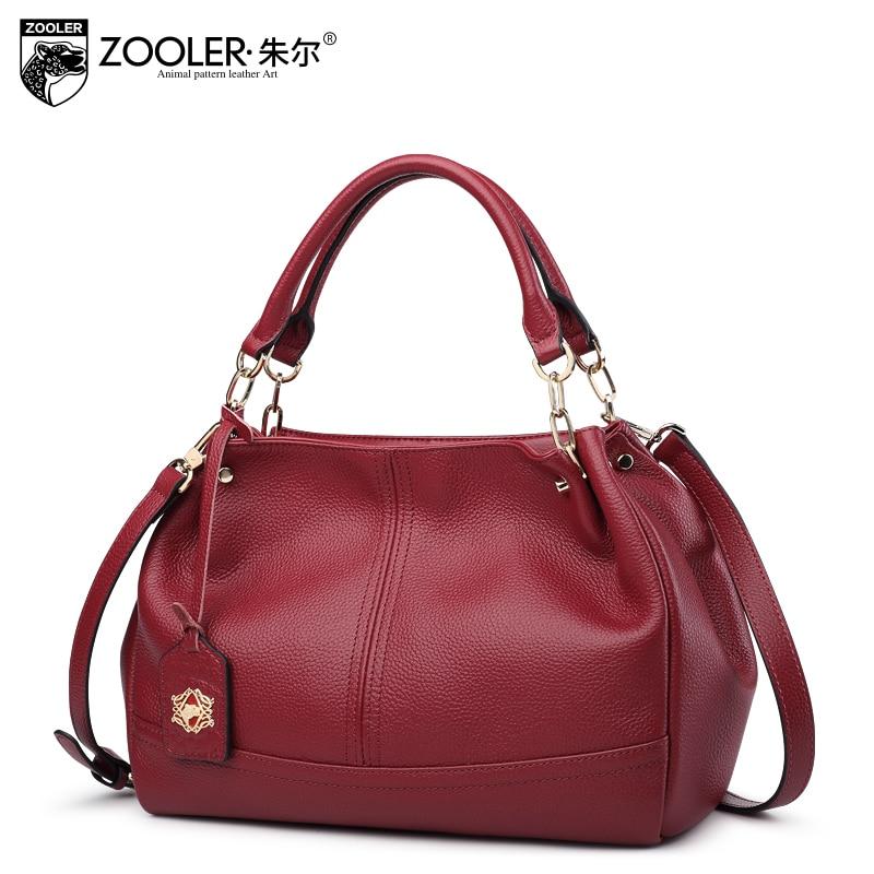 Russia Ship ZOOLER 2018 Genuine Leather woman bags handbags women famous brands shoulder bags for ladies