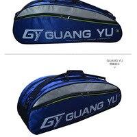 Large capacity badminton racket backpack 6 packs Multi layer sports backpack Portable bag Independent shoe bag