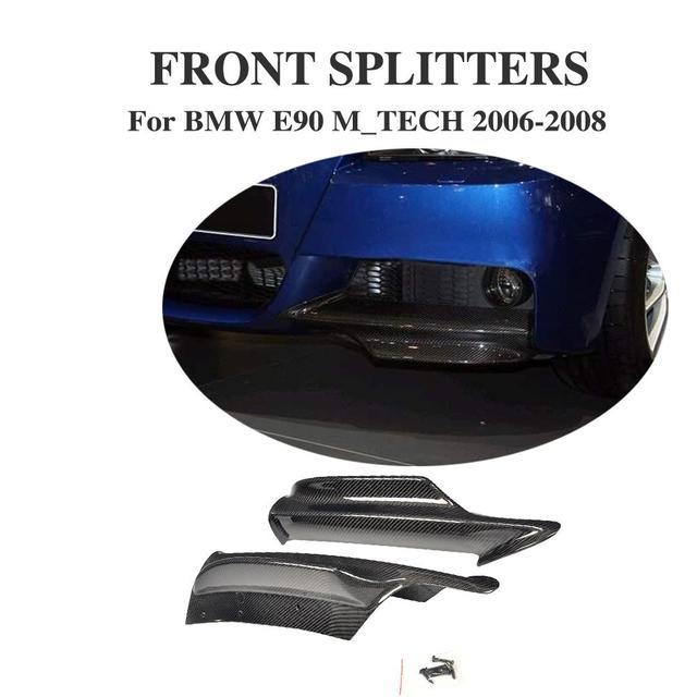 Carbon Fiber Front Bumper Splitters Aprons For BMW E90 M Tech M Sport Bumper 2006-2008 2PCS/Set