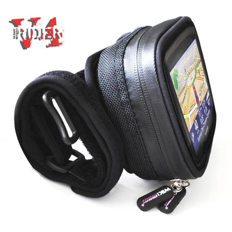 Цена за Чехол для смартфона крепление держатель мешка для iPhone 5 5S Samsung галстук на мотоцикл руль Экран осязаемый