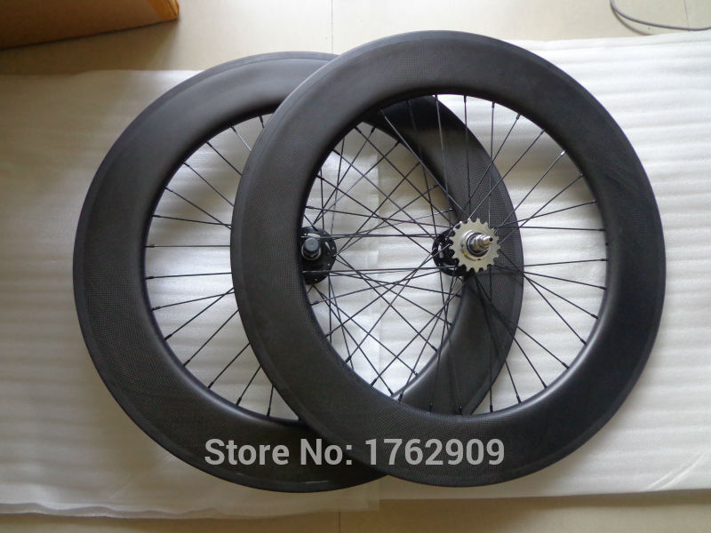 New 700C 88mm tubular rims track fixed gear bike aero matte 3K full carbon fibre bicycle wheelsets with Fixed Gear hub Free shipNew 700C 88mm tubular rims track fixed gear bike aero matte 3K full carbon fibre bicycle wheelsets with Fixed Gear hub Free ship