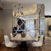 3d muurstickers woonkamer home decoratie moderne patroon huis diy muursticker acryl gespiegeld decoratieve sticker