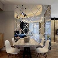 Patrón 3d pegatinas de pared home living decoración moderna casa de bricolaje etiqueta de la pared de acrílico adhesivo espejo decorativo