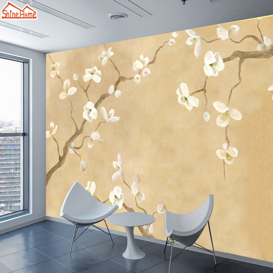 ShineHome Large Custom Wallpapers for 3 d Walls Living Room Flower ...