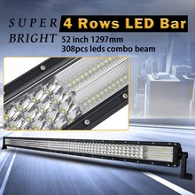 52 inch 4 Rows Led Bar Led Work light for Off Road 4×4 4WD ATV UTV SUV Driving Light Truck Led Light Bar Auto Lamp Actual 262W