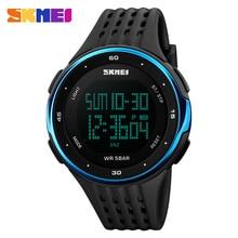 SKMEI 1219 Men Sport Watch Chronograph Alarm Clock Digital Watches Relogio Masculino LED Display Waterproof Wristwatches цена