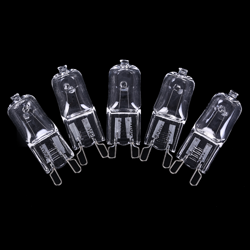 5pcs/lot Dimmable G9 Halogen Bulb 20W/40W/60W 220V 2900K Warm White For Wall Lamp Clear Glass Each With An Inner Box Whosesale