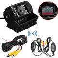 Car Rear View Backup Reversing Camera + Wireless Video Signal Transmitter Receiver Kit for Car DVD Parking Monitor System