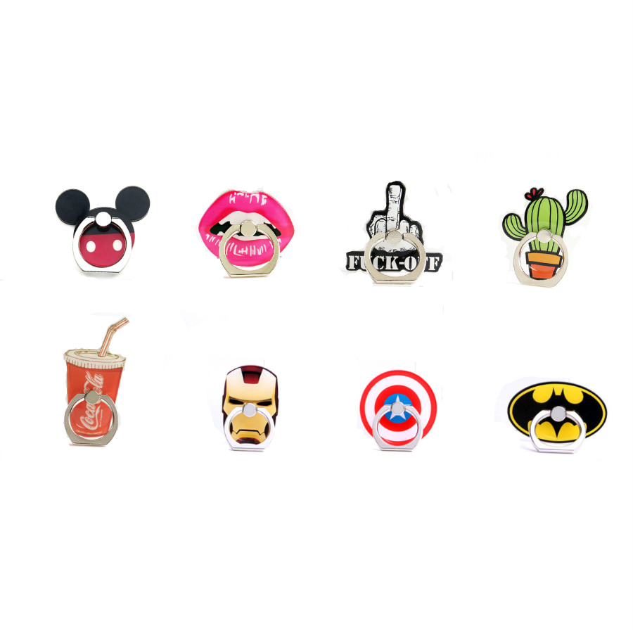 Wholesales 50 Pieces lot Creative Mobile Phone Holder Stand Mickey Finger Ring Holder for iPhone X