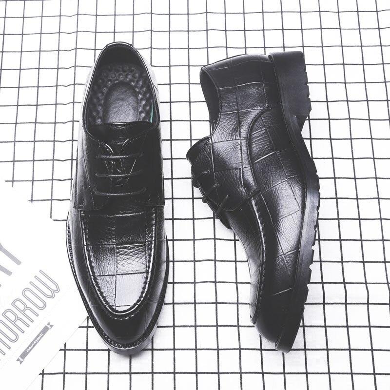 Elegantes Preto Luxo Formais Designer Sociais Dos Msw8118181 Couro De Verão Sapatos Marca Homens Do vAawaO
