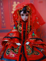 Handmade Ancient Chinese Bride Dolls Collectible Qing Dynasty Doll Vintage Style BJD Girl Dolls Toys Wedding Gifts