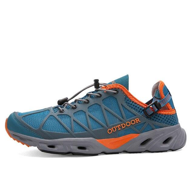 0301b89796 Zapatos para caminar al aire libre de verano transpirable pesca  antideslizante anfibias caminar velocidad zapatillas vadeo