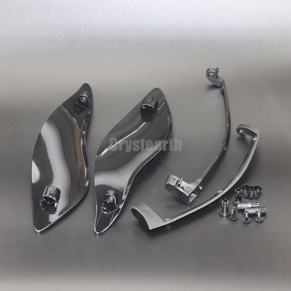 Chrome Smoke ABS Adjustable Batwing Fairing Side Wing Air Deflector For Harley Touring 2014-later Electra Glide Street Glide