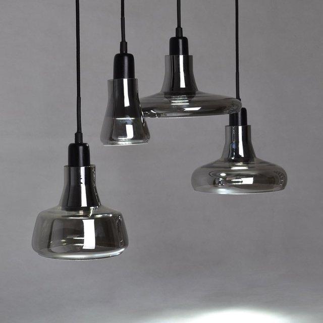 Nordic Creative crystal glass pendant light loft designer bar restaurant shadow E27 single head pendant lamp fixture