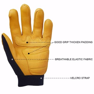 Image 2 - OZERO Deerskin Men Work Driver Gloves Leather Security Protection Wear Safety Workers Working Racing Garage Gloves For Men  8003