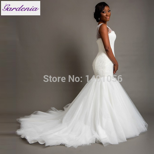 2015 Nigeria Bridal Gowns Fashional Winter Women Plus Size Wedding ...
