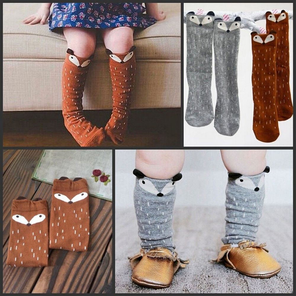 Sale  Knee High Socks Toddlers Kids Girls  Pattern For Age 1-4 Years