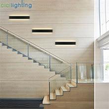 L24/41/51/61/72/91/111cm Black White LED Stairs bedroom living room background lamp lights Bathroom mirror light wall sconces