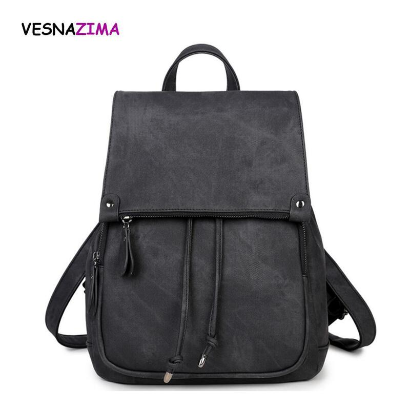 Fashion Leather Backpacks Women School Bags For Teenagers Girl Laptop  Drawstring Travel Backpack Leisure Rucksack Pink WM501Z-in Backpacks from  Luggage ... 7e14860ab47d8