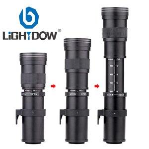 Ручной зум-объектив Lightdow 420-800 мм F/8,3-16 Super Telephoto + кольцо адаптера T2 для цифровых зеркальных камер Canon EOS, Nikon, Sony, Pentax
