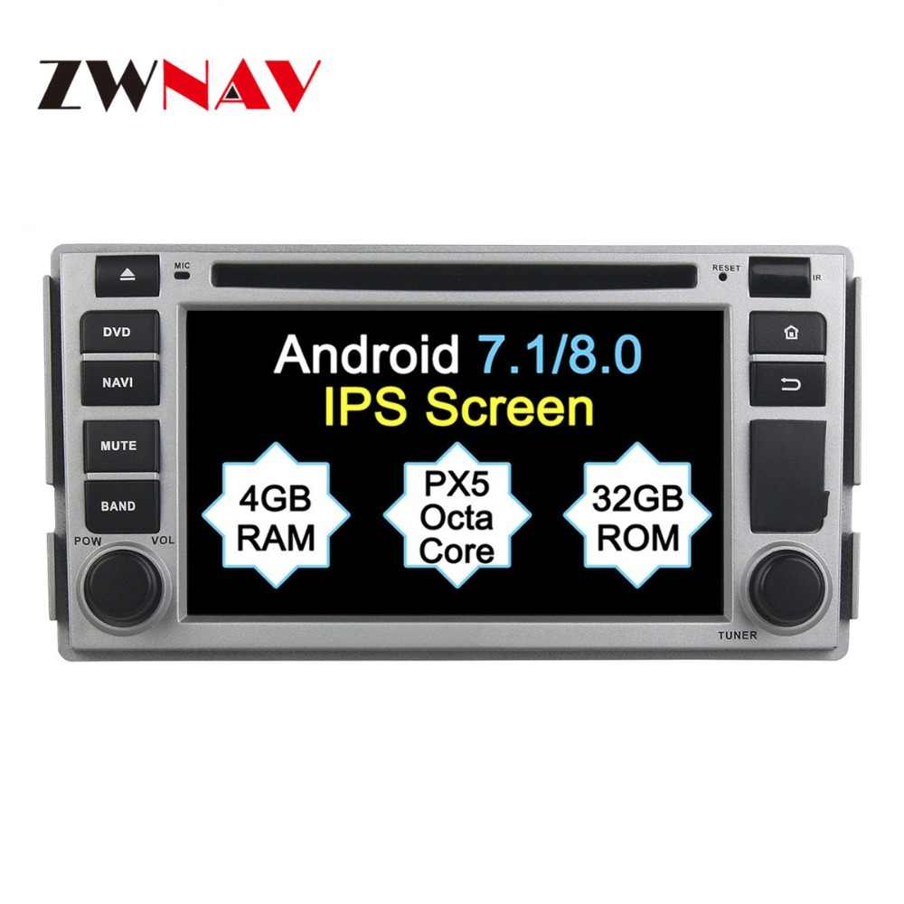 2 Din Android 8 1 System Car GPS Navigation DVD Player Radio For Hyundai  SANTA FE 2006 2007 2008 2009 2010 2012 Free Map Camera