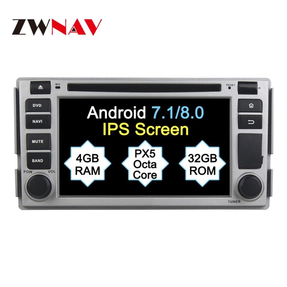 2 Din Android 8.1 Système Voiture GPS Navigation DVD Radio Player Pour Hyundai SANTA FE 2006 2007 2008 2009 2010 2012 Livraison Carte Caméra