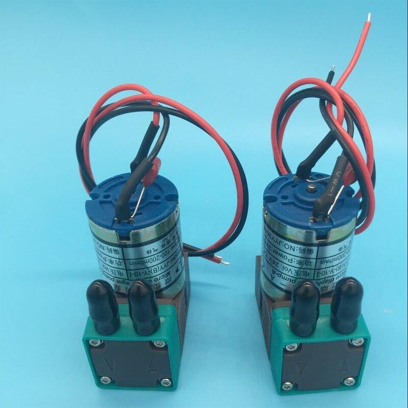 2 pièces/lot JYY petite pompe à encre pour galaxie esprit couleur humaine Infiniti Phaeton solvant traceur imprimante 3W 24V 100-200ml micro pompe à encre