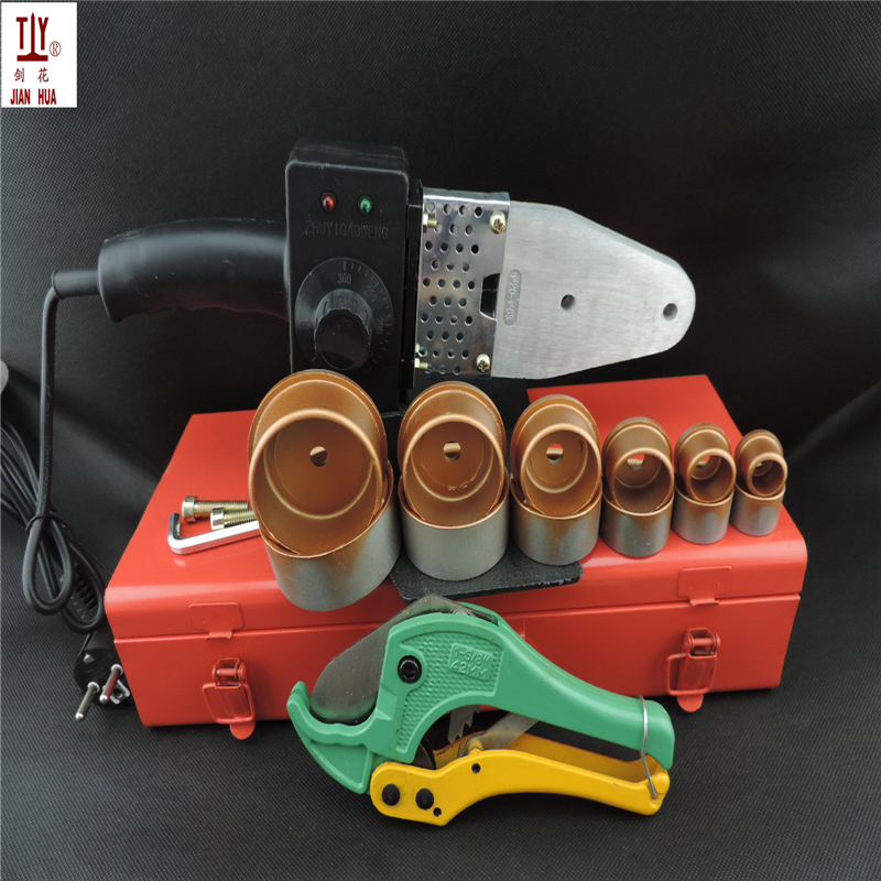 Free Shipping Iron Box With 42mm Shears PPR Tube Welding Machine,  Plastic Water Pipes Welder AC 110/220V 20-63mm To Use free shipping plumber tool with 42mm cutter 220v 800wplastic water pipe welder heating ppr welding machine for plastic pipes