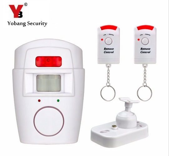 YobangSecurity PIR Alert Infrared Detector Wireless PIR Motion Sensor Alarm Wireless IR Remote Home Security Alarm System neo coolcam nas pd02z new z wave pir motion sensor detector home automation alarm system motion alarm system eu us version