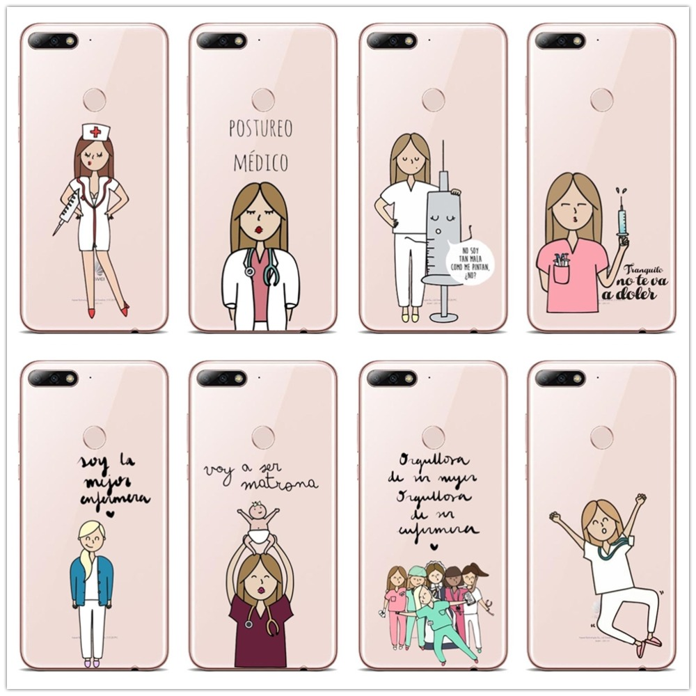 Cellphones & Telecommunications Active Fashion Spain Cartoon Medicine Doctor Nurse Phone Case For P8 Lite 2017 P9 P10 P20l P10 P20plus Soft Tpu Cover Diversified In Packaging