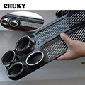 CHUKY Car Styling Auto Carbon Exhaust Stickers For Renault Megane 2 Logan Captur Alfa Romeo 159 Chevrolet Cruze Jeep Accessories