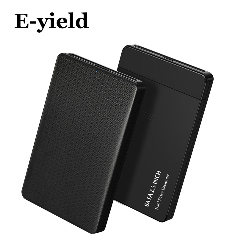 Plaid Design HDD Case 2.5 Inch SATA To USB 3.0 SSD Adapter For SSD 1TB 2TB Hard Disk Drive Box External HDD Enclosure