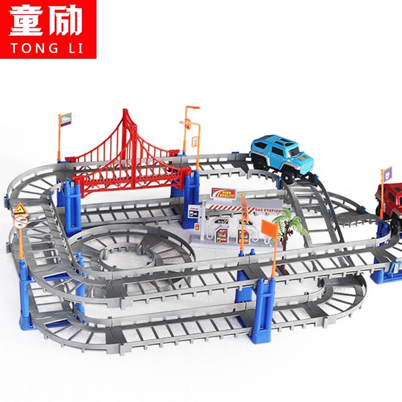 Φ_ΦLos niños juguetes eléctricos Thomas ferrocarril niños tren pista ...