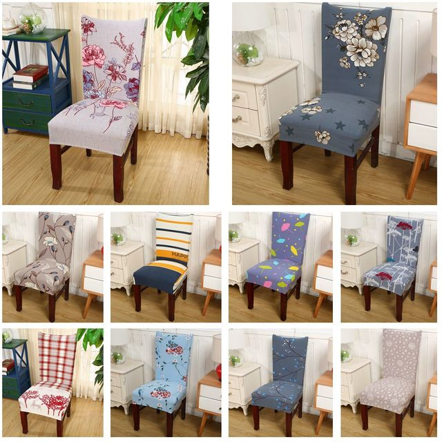 Cotton Wedding Chair Covers To Buy Classic Ikea Aliexpress Com Polyester Colorful Printing Spandex Elastic Soft For Chairs Dinner Restaurant