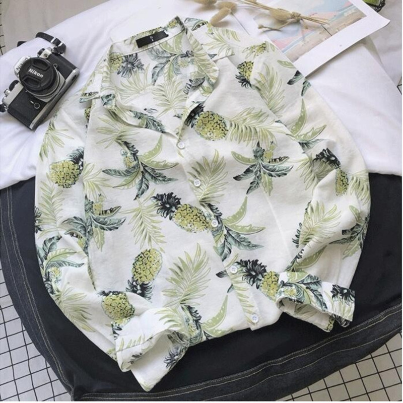 Spring New Flower Shirt Men Fashion Hawaiian Shirt Man Breathable Casual Shirt Streetwear Trend Wild Loose Long sleeved Shirt in Casual Shirts from Men 39 s Clothing