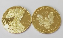 Non magnetic coin 2000 American gold Eagle 1troy oz .999 Bullion Round coin, eagle 1OZ free shipping