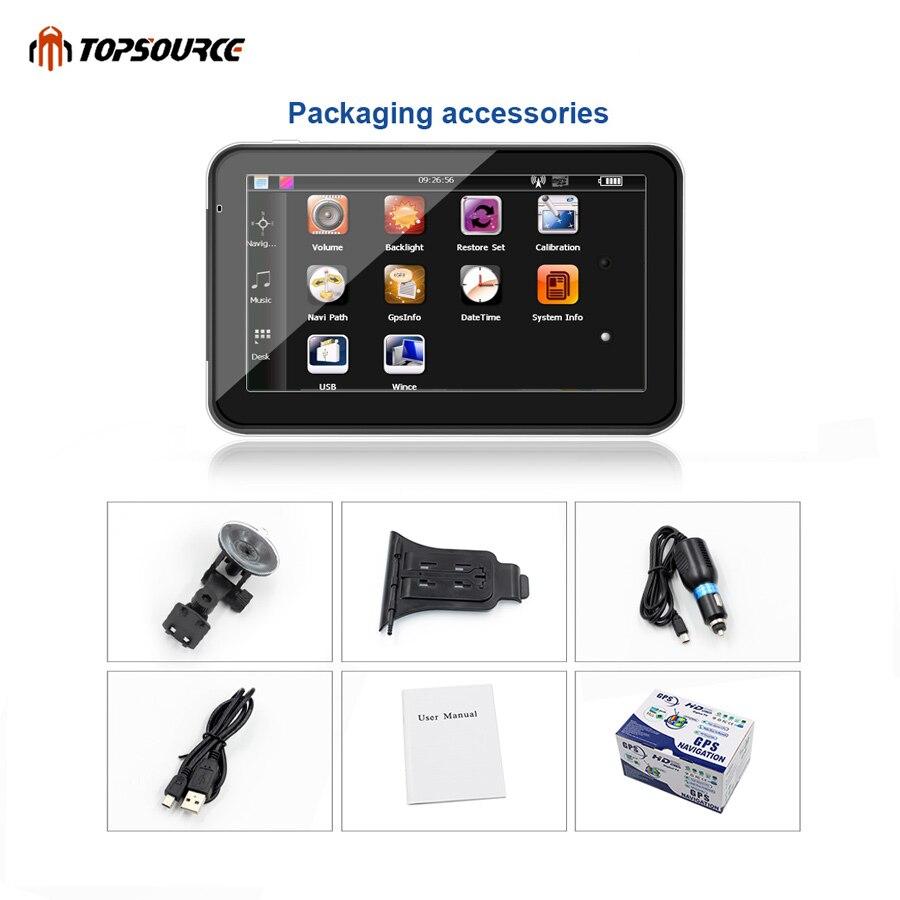 TOPSOURCE 5 «7» 256M 8G hd автокөлік GPS - Автомобиль электроникасы - фото 6