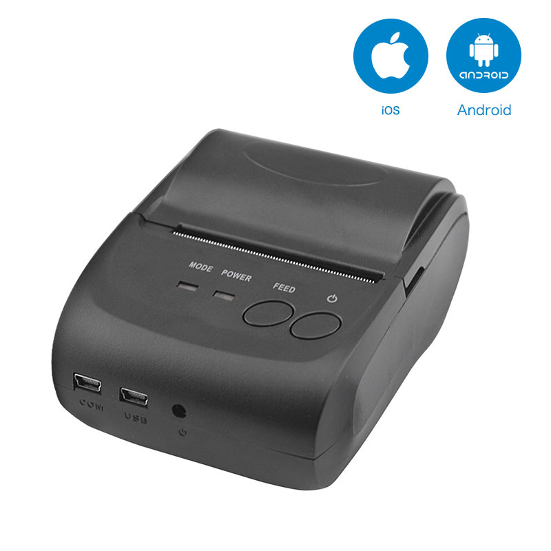 5802DD 58mm Bluetooth Thermal Receipt Printer for Android and IOS AND 5802LD Mini Printer for Android Mobile POS Printer radall 58mm bluetooth thermal receipt printer portable mini bluetooth printer for android and ios mobile pos printer rd 1805dd