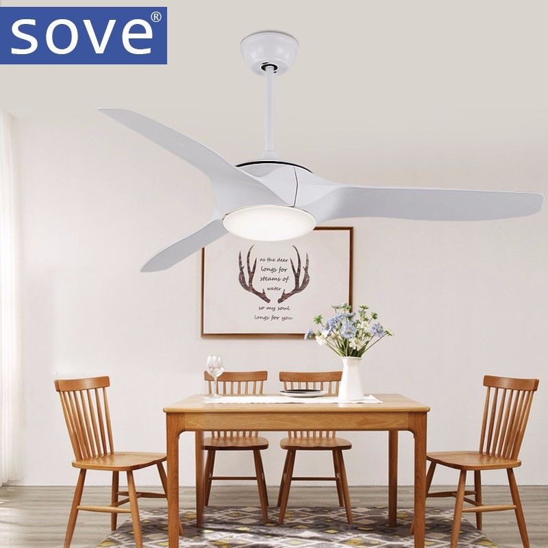 52 inch LED Brown White Black Ceiling Fans With Lights Remote Control living room bedroom home Ceiling Light Fan Lamp
