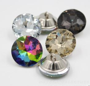 Apparel Sewing & Fabric Professional Sale 1000pcs 22mm Rhinestone Stone Flower Pull Clasp Crystal Sofa,soft Bag Buckles Crys Gemstone Button Glass Gem Flower Pull Buttons Luxuriant In Design Arts,crafts & Sewing