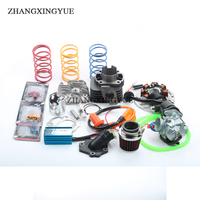 2 Stroke Big Bore Kit with 12mm Wrist Pin and CDI Coil Carburetor for 1E40QMB JOG 50cc 70cc
