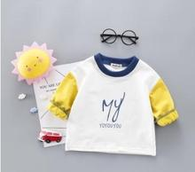 cute round collar Kids Clothes 2019 Spring Autumn Baby Girl T-shirts Boy For 1 2 3 4 years baby clothes SY-F191016