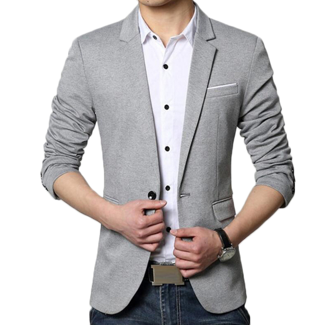 eae9735512 Blazer Men Korea Slim Fit Fashion Suit Jacket Male Casual Cotton Linen  Soild Color Plus Size 5XL 6XL Coat Wedding Dress Blazers