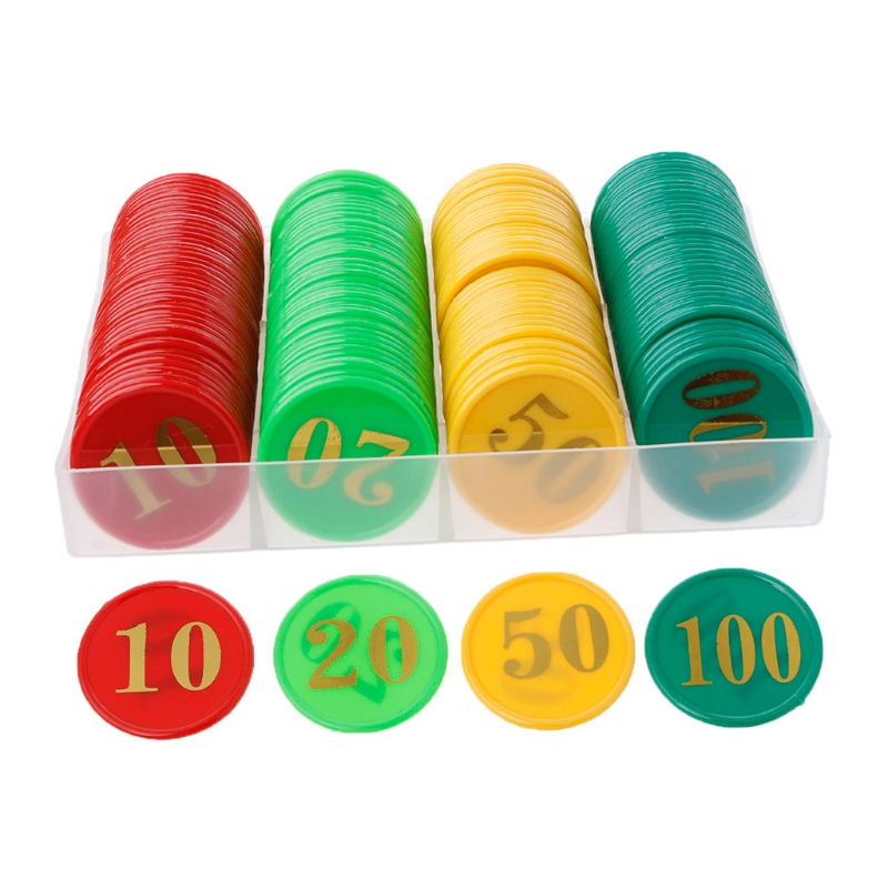 160 Pcs/box Plastic Bingo Chips Number Markers For Bingo Game Counters Games 4 Colors