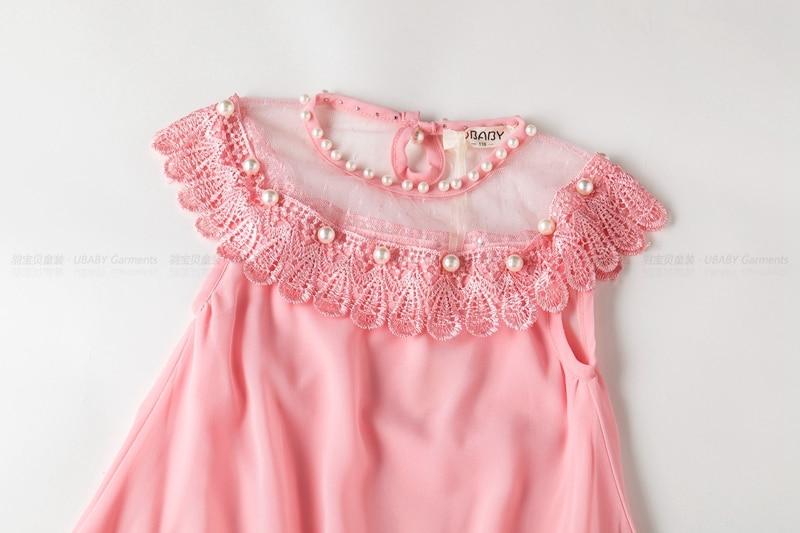 Children's chiffon quality lace dress