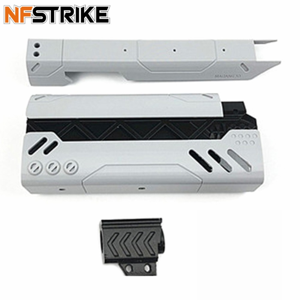 NFSTRIKE 3D Printing 200mm MOD2 Appearence PLA Modification Kit For Nerf Zombie Strike SlingFire Blaster Modified Accessories maliang appearance modification 3d printing front tube a 3 0 decoration part for nerf zombie strike doublestrike blaster