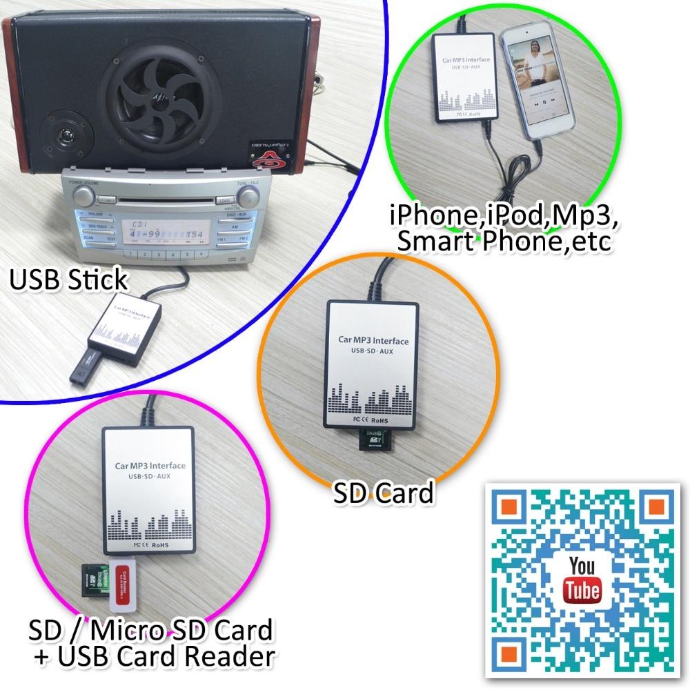 Auto Car USB SD AUX Adapter Audio Interface Mp3 Converter for Alfa ...